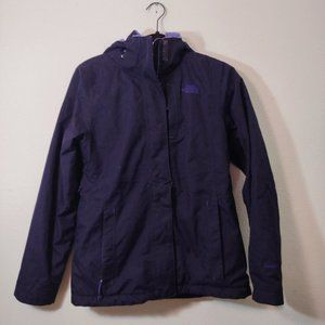 The North Face Fleece Lined Purple Winter Jacket S